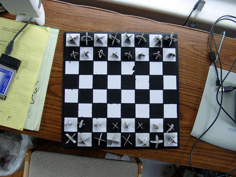 chess set in progress